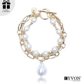 Obrazek Bransoletka lancuch perla B03062