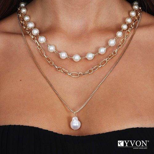 Obrazek Naszyjnik lancuch perla N03062