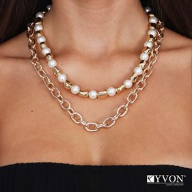 Obrazek Naszyjnik lancuch perla N03061