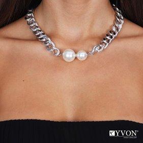 Obrazek Naszyjnik lancuch perla N03060