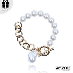 Obrazek Bransoletka lancuch perla B03053